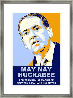 May Nay Huckabee Framed Print by Randell Trulson