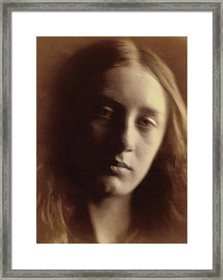 May Prinsep As St John Framed Print by Julia Margaret Cameron