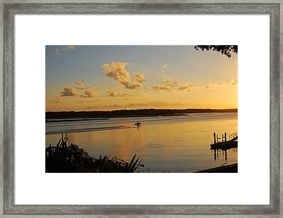 May River Framed Print by Margaret Palmer