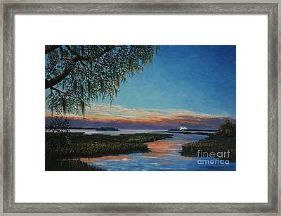 May River Sunset Framed Print