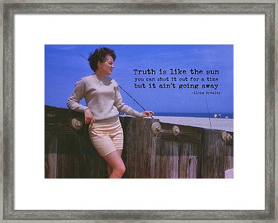 May September Romance Quote Framed Print by JAMART Photography
