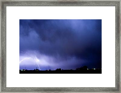 May Showers 3 In Color - Lightning Thunderstorm 5-10-2011 Boulde Framed Print