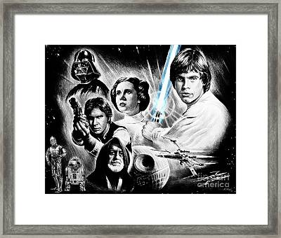 May The Force Be With You  Light Saber Edit Framed Print by Andrew Read