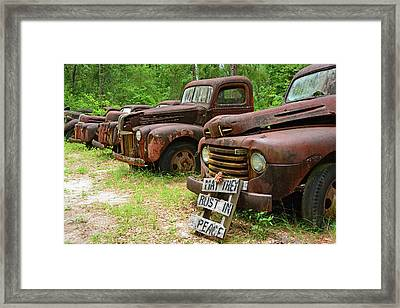 May They Rust In Peace Framed Print