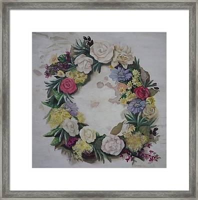 May Wreath Framed Print