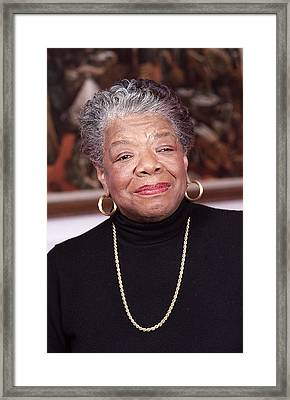 Maya Angelou Framed Print by Robert Ponzoni