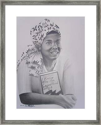 Maya Angelou  Haydays Framed Print by Chuck Collins