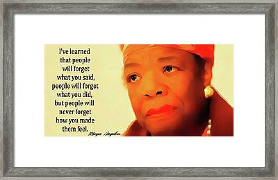 Maya Angelou Quote Framed Print
