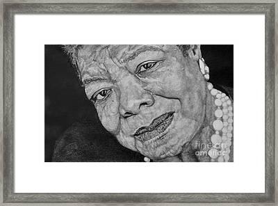 Maya Angelou Framed Print by Rod Conner