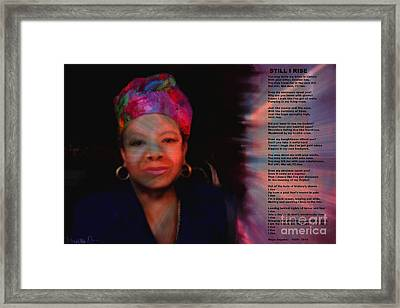 Maya Angelou Framed Print