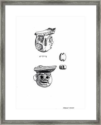 Maya Ceramic Head Framed Print