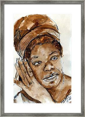 Maya Framed Print by Howard Barry