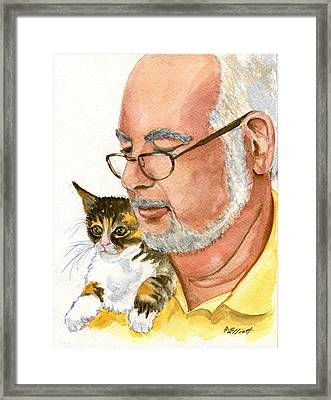 Maya Loves Her Papa Framed Print by Marsha Elliott