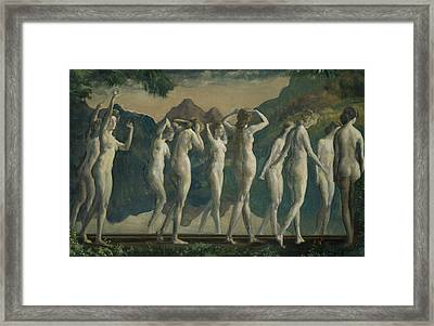 Maya, Mirror Of Illusions Framed Print