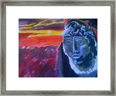 Maya Sunset Framed Print