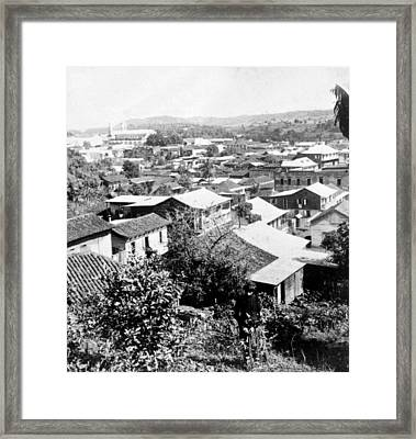Mayaguez - Puerto Rico - C 1900 Framed Print by International  Images