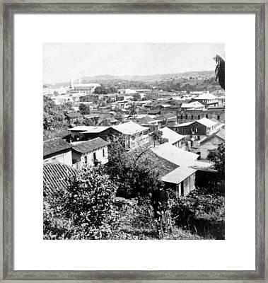 Mayaguez - Puerto Rico - C 1900 Framed Print by International  Images