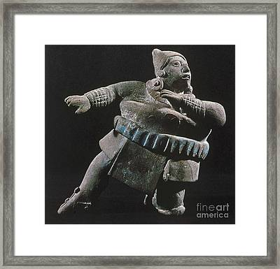 Mayan Athlete, 700-900 A.d Framed Print