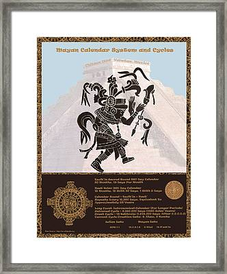Mayan Calendar Cycles Framed Print by Mary Stanford