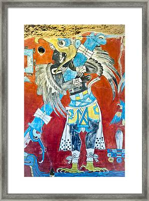 Mayan Fresco II Framed Print by John  Bartosik