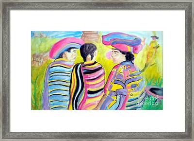 Mayan Indians Framed Print by Stanley Morganstein