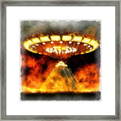 Mayan Invasion Framed Print by Esoterica Art Agency