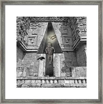 Mayan Keyway  Framed Print