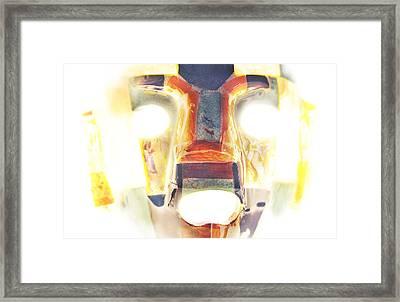 Mayan Mask Framed Print