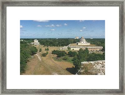 Mayan Observatory, Mexico Framed Print by Granger