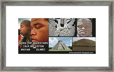 Mayan Olmec Framed Print