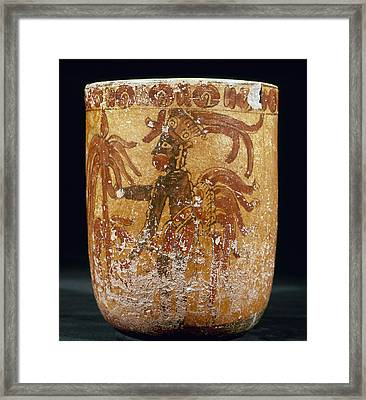 Mayan Priest 700-900 Ad Framed Print by Granger