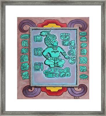 Mayan Prince Framed Print