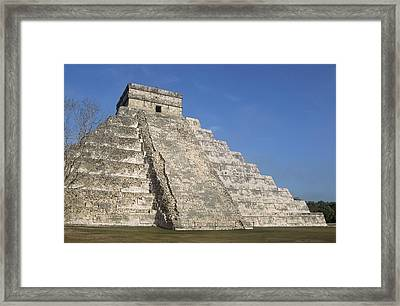 Mayan Ruins At Chichen Itza, Kukulcans Pyramid, Yucatan, Mexico Framed Print by Tom Brakefield