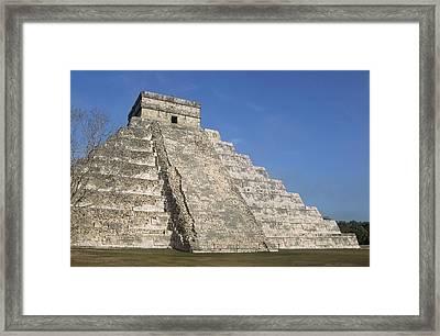 Mayan Ruins At Chichen Itza, Kukulcans Pyramid, Yucatan, Mexico Framed Print by Tom Brakefield