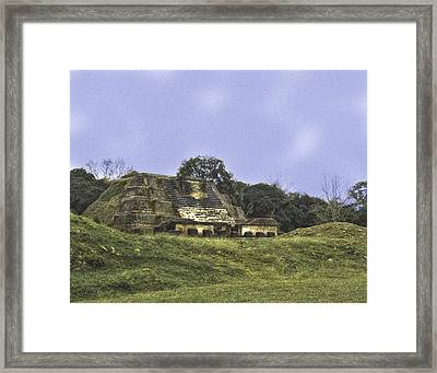 Mayan Ruins In Belize Framed Print