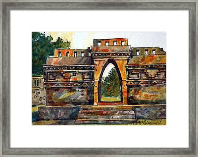 Mayan Ruins Framed Print by Richard McDiarmid