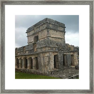 Mayan Stone Homes  Framed Print