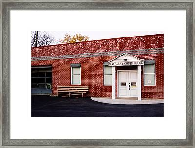 Mayberry Courthouse Nc Framed Print by Bob Pardue