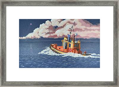 Mayday- I Require A Tug Framed Print by Gary Giacomelli