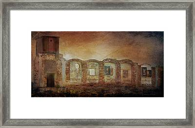 Mayfair Mills Ruins Easley South Carolina Framed Print by Bellesouth Studio