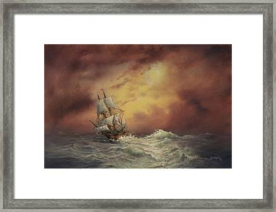 Mayflower At Sea Framed Print