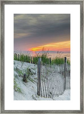 Framed Print featuring the photograph Mayflower Beach by Mike Ste Marie