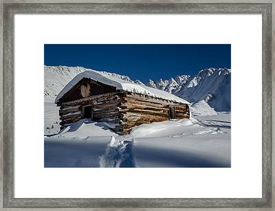 Mayflower Gulch Cabin Framed Print