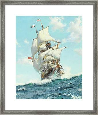 Mayflower II - Detail Framed Print by Montague DawsonMayflower II