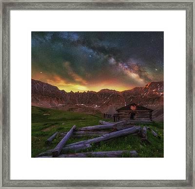 Mayflower Milky Way Framed Print by Darren White