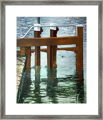 Maynooth Lock Framed Print by Marty Garland
