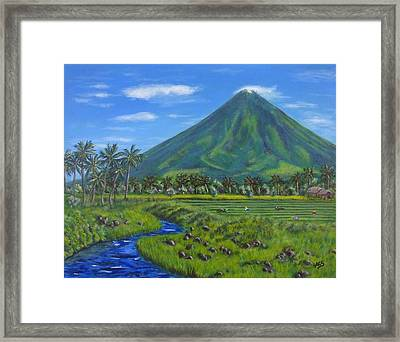 Mayon Volcano Framed Print