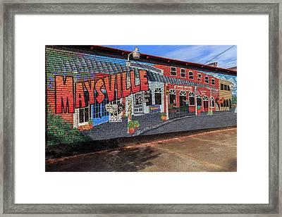 Maysville Mural Framed Print