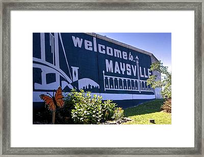 Maysville,ky Welcome Framed Print