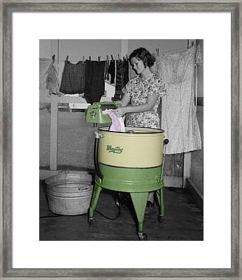 Maytag Woman Framed Print